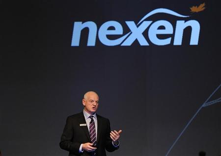 Kevin Reinhart interim CEO of Nexen addresses shareholders at the company's annual general meeting in Calgary, Alberta, April 25, 2012. REUTERS/Todd Korol
