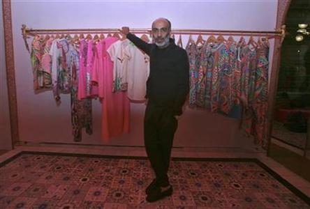 Manish Arora poses inside a store in New Delhi May 4, 2012. REUTERS/Parivartan Sharma