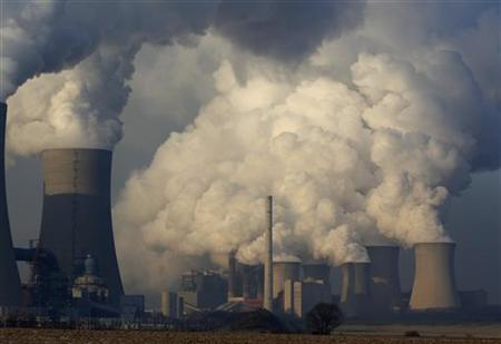 Coal power plants are pictured in the western town of Neurath February 10, 2012. REUTERS/Ina Fassbender
