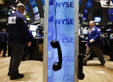 Trading phones are seen hanging on the floor of the New York Stock Exchange May 7, 2010. REUTERS/Shannon Stapleton/Files