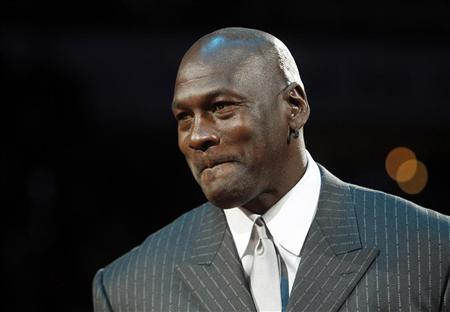NBA basketball great Jordan speaks during a ceremony in Charlotte, North Carolina December 14, 2010. REUTERS/Chris Keane