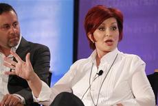 "Sharon Osbourne, one of the judges on ""America's Got Talent"", takes part in a panel discussion at the NBC Universal Summer Press Day 2012 introducing new television shows for the summer season in Pasadena, California April 18, 2012. REUTERS/Fred Prouser"