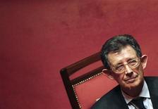 IUna immagine di archivio di Piero Giarda. REUTERS/Tony Gentile