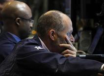 Traders work on the floor of the New York Stock Exchange, May 9, 2012. REUTERS/Brendan McDermid