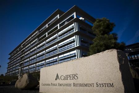 The headquarters of Calpers, the largest U.S. public pension fund, is seen in Sacramento. REUTERS/Max Whittaker