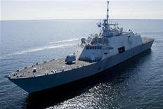 File photo of USS Freedom undergoes builder's trials on Lake Michigan near Marinette, Wisconsin. REUTERS/U.S. Navy/Lockheed-Martin/Handout