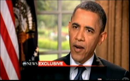 U.S. President Barack Obama speaks during an interview with ''Good Morning America'' co-anchor Robin Roberts in this still image taken from video released on May 9, 2012. REUTERS/ABC News' Robin Roberts/Handout