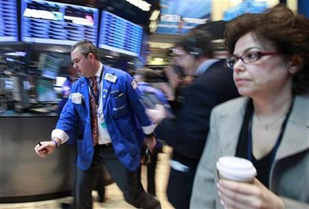Traders work on the floor of the New York Stock Exchange May 10, 2012. REUTERS/Brendan McDermid