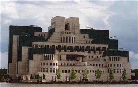 The headquarters of Britain's Secret Intelligence Service (MI6) at Vauxhall Cross on the River Thames in central London in a file photo. REUTERS/Michael Crabtree