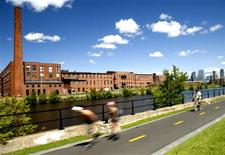 The cycling path at Lachine Canal National Historic Site in Montreal. REUTERS/Jonathan Lapalme/Tourisme Montreal
