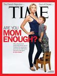 Jamie Lynne Grumet, photographed by Martin Schoeller with her 3-year-old son, on the cover of the latest TIME magazine in an image released to Reuters by TIME magazine on May 11, 2012. An American mother shown breastfeeding her three-year-old son on a controversial cover of Time magazine that has sparked a national debate about attachment parenting defended the practice on Friday, saying it was a personal choice. REUTERS/Time Magzine/Handout