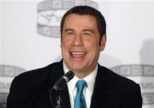 "Actor John Travolta speaks during a news conference to promote the film ""Gotti:Three Generations"" in New York in this file photo taken April 12, 2011. REUTERS/Brendan McDermid/Files"