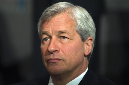 Jamie Dimon, chairman and chief executive of JP Morgan Chase and Co, speaks at the 2012 Simon Graduate School of Business' New York City Conference in New York, in this May 3, 2012 file photo. REUTERS/Keith Bedford/File
