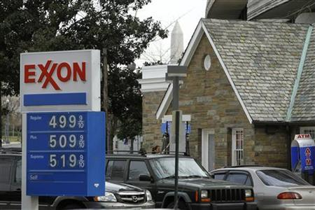 An Exxon gas station is seen in Washington March 2, 2012. REUTERS/Gary Cameron