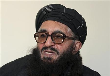 Former Taliban minister Maulvi Arsala Rahmani, a member of the High Peace Council set up by President Hamid Karzai two years ago to liaise with insurgents, speaks during an interview in Kabul January 26, 2012. REUTERS/Mohammad Ismail