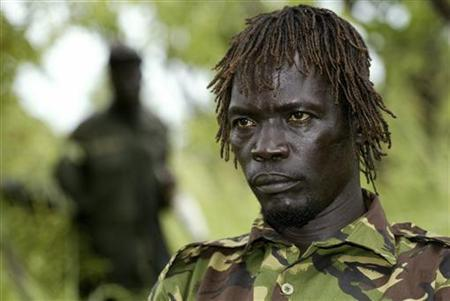 Lord's Resistance Army (LRA) commander Caesar Achellam is seen in Owiny Kibul in this September 20, 2006 file photo. Uganda People's Defence Forces said Achellam, a major general in LRA leader Joseph Kony's outfit of about 200 fighters, had been captured in an ambush on May 12, 2012 along the banks of the River Mbou in neighbouring Central African Republic. REUTERS/James Akena