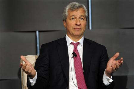Jamie Dimon, chairman and chief executive of JP Morgan Chase and Co, speaks at the 2012 Simon Graduate School of Business' New York City Conference in New York in this May 3, 2012, file photo. REUTERS/Keith Bedford/Files