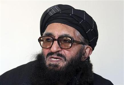 Former Taliban minister Maulvi Arsala Rahmani, a senior member of the High Peace Council set up by President Hamid Karzai two years ago to liaise with insurgents, speaks during an interview in Kabul, in this file picture taken January 26, 2012. REUTERS/Mohammad Ismail/