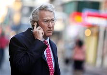 Chesapeake Energy Corporation CEO Aubrey McClendon walks through the French Quarter in New Orleans, Louisiana in this March 26, 2012 file photo. REUTERS/Sean Gardner/Files
