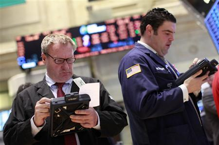 Traders work on the floor of the New York Stock Exchange, May 14, 2012. REUTERS/Brendan McDermid