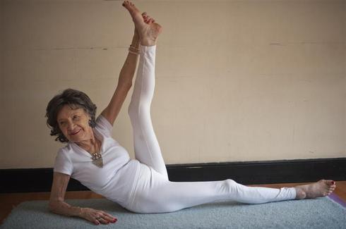 The oldest yoga teacher