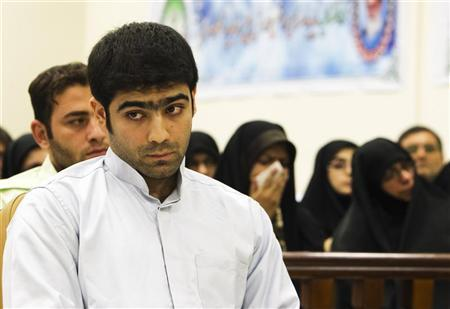 Majid Jamali Fashi, accused of assassinating Iranian scientist Massoud Ali-Mohammadi, attends his trial at the revolutionary court in Tehran August 23, 2011. REUTERS/Raheb Homavandi