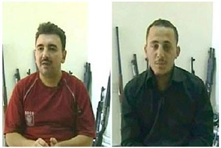 A handout combination picture of two video grabs released on September 2, 2011 on the Syrian Arab News Agency taken from confession videos that shows Qusai Shaqfeh (L) and Omran Abd El-Razzak, labeled as ''terrorists'' by Syrian state media May 16, 2012. REUTERS/Sana/Handout