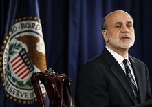 U.S. Federal Reserve Chairman Ben Bernanke speaks at a news conference following the monthly two-day meeting at the Federal Reserve in Washington, April 25, 2012. REUTERS/Jason Reed