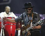Guitarist Chuck Brown of the U.S. performs on the final day of the 20th St. Lucia Jazz Festival at Pigeon Island, May 8, 2011. Picture taken May 8. REUTERS/Andrea De Silva