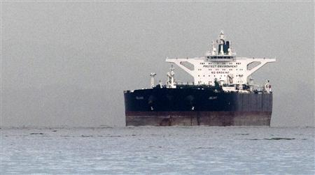 Malta-flagged Iranian crude oil supertanker ''Delvar'' is seen anchored off in this file photo taken in Singapore March 1, 2012. REUTERS/Tim Chong/Files