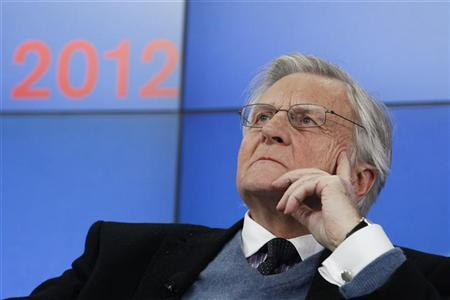 Former European Central Bank President Jean-Claude Trichet attends a session at the World Economic Forum (WEF) in Davos, January 27, 2012. REUTERS/Christian Hartmann