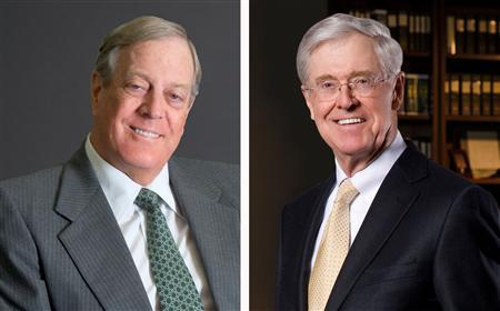 David and Charles Koch in a combination image. REUTERS/Koch Industries