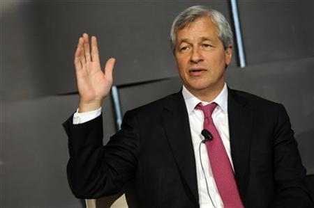 Jamie Dimon, chairman and chief executive of JP Morgan Chase and Co, speaks at the 2012 Simon Graduate School of Business' New York City Conference in New York May 3, 2012. REUTERS/Keith Bedford/Files