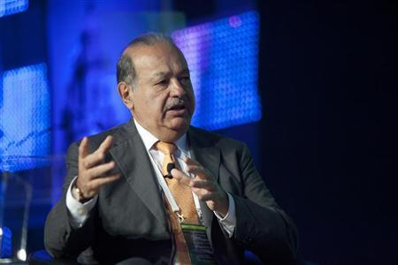 Mexican tycoon Carlos Slim speaks during the opening of the World Travel and Tourism Council's The Americas Summit in Playa del Carmen, May 17, 2012. REUTERS/Victor Ruiz Garcia