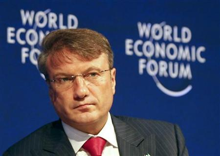 CEO of Russian Sberbank Herman Gref attends a plenary session of the World Economic Forum in Vienna June 8, 2011. REUTERS/Leonhard Foeger