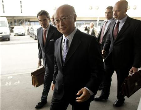 International Atomic Energy Agency (IAEA) Director General Yukiya Amano arrives before his trip to Tehran at the international airport in Vienna May 20, 2012. REUTERS/Leonhard Foeger