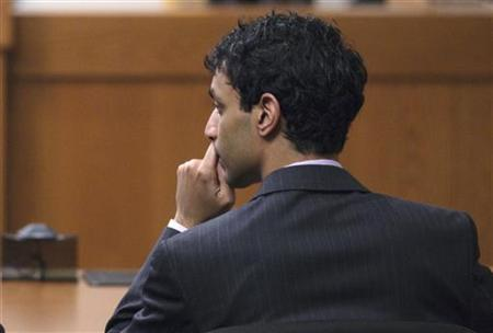 Dharun Ravi, a former Rutgers University student charged with bias intimidation, listens as the jury lists their verdict in his trial at the Superior Court of New Jersey in Middlesex County, New Brunswick, New Jersey March 16, 2012. REUTERS/Lucas Jackson