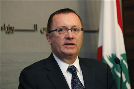 Jeffrey D. Feltman, U.S. Assistant Secretary of State for Near East Affairs, speaks during a news conference after his meeting with Lebanon's Prime Minister Najib Mikati at the government palace in Beirut, December 7, 2011. REUTERS/ Mohamed Azakir