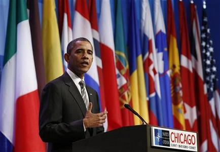 U.S. President Barack Obama holds a news conference on the second day of the NATO Summit in Chicago, May 21, 2012. REUTERS/Jim Young