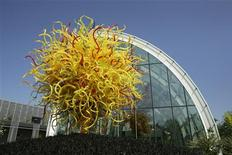 The Seattle Sun by artist Dale Chihuly is on display at the Chihuly Garden and Glass exhibit in Seattle, Washington, May 16, 2012. REUTERS/Robert Sorbo