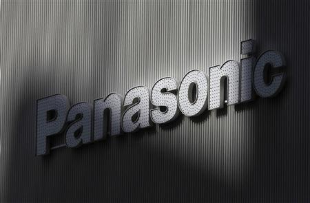 Panasonic's logo is seen on a wall of an electronic shop in Tokyo February 3, 2012. REUTERS/Kim Kyung-Hoon