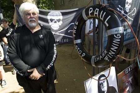 Marine conservationist Paul Watson attends a rally of animal rights activists in Berlin, May 23, 2012. REUTERS/Thomas Peter