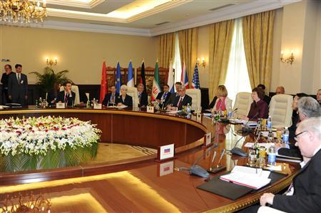 European Union foreign policy chief Catherine Ashton (4th R) heads a meeting between Iran and six world powers in Baghdad May 23, 2012. REUTERS/Government Spokesman Office/Handout