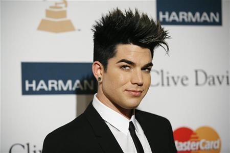 Singer Adam Lambert arrives at the Clive Davis and Recording Academy Pre-Grammy Gala and Salute to Industry Icons in Beverly Hills, California February 11, 2012. REUTERS/Jason Redmond