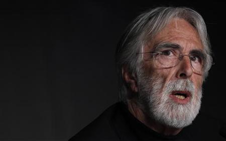 Director Michael Haneke attends a news conference for the film ''Amour'', in competition at the 65th Cannes Film Festival, May 20, 2012. REUTERS/Vincent Kessler