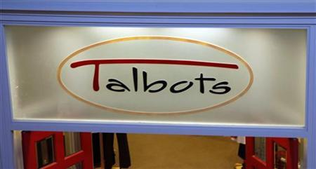 The sign for the Talbot's store is seen in Broomfield, Colorado. REUTERS/Rick Wilking