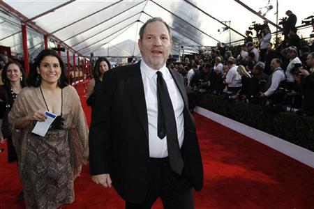 CEO of The Weinstein Company Harvey Weinstein arrives at the 16th annual Screen Actors Guild Awards in Los Angeles January 23, 2010. REUTERS/Danny Moloshok (FILM-SAGAWARDS/ARRIVALS)