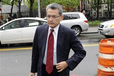 Rajat Gupta, a former Goldman Sachs Group Inc. and Procter & Gamble board member, arrives at the Manhattan Federal Court in New York May 22, 2012. REUTERS/Keith Bedford
