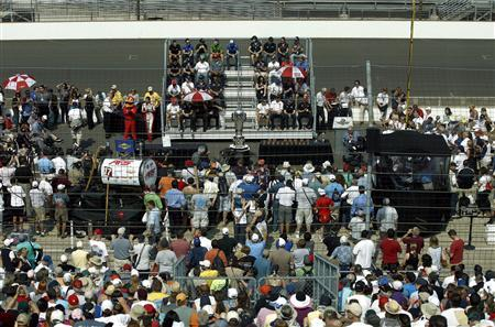 An overall view during the drivers' meeting is seen at the Indianapolis Motor Speedway in Indianapolis, Indiana May 26, 2012. REUTERS/Matt Sullivan