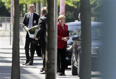 German Chancellor Angela Merkel arrives at the Chancellery for talks in Berlin, May 24, 2012. REUTERS/Tobias Schwarz
